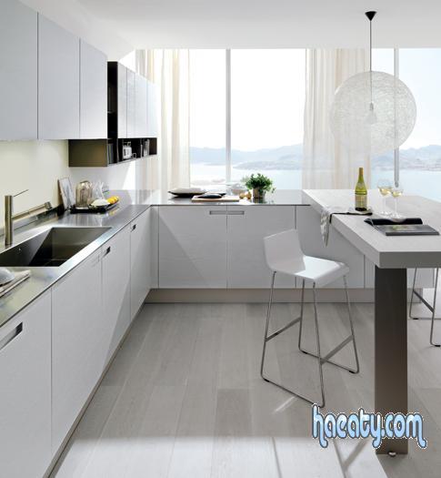 : مطابخ خشبية بيضاء : مطابخ
