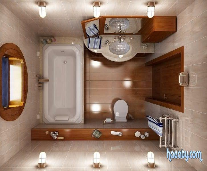 ديكورات سيراميك حمامات صغيرة