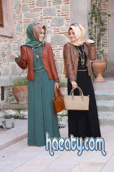 4dd9128d7 فساتين شتوية للمحجبات Winter dresses hijab 2017